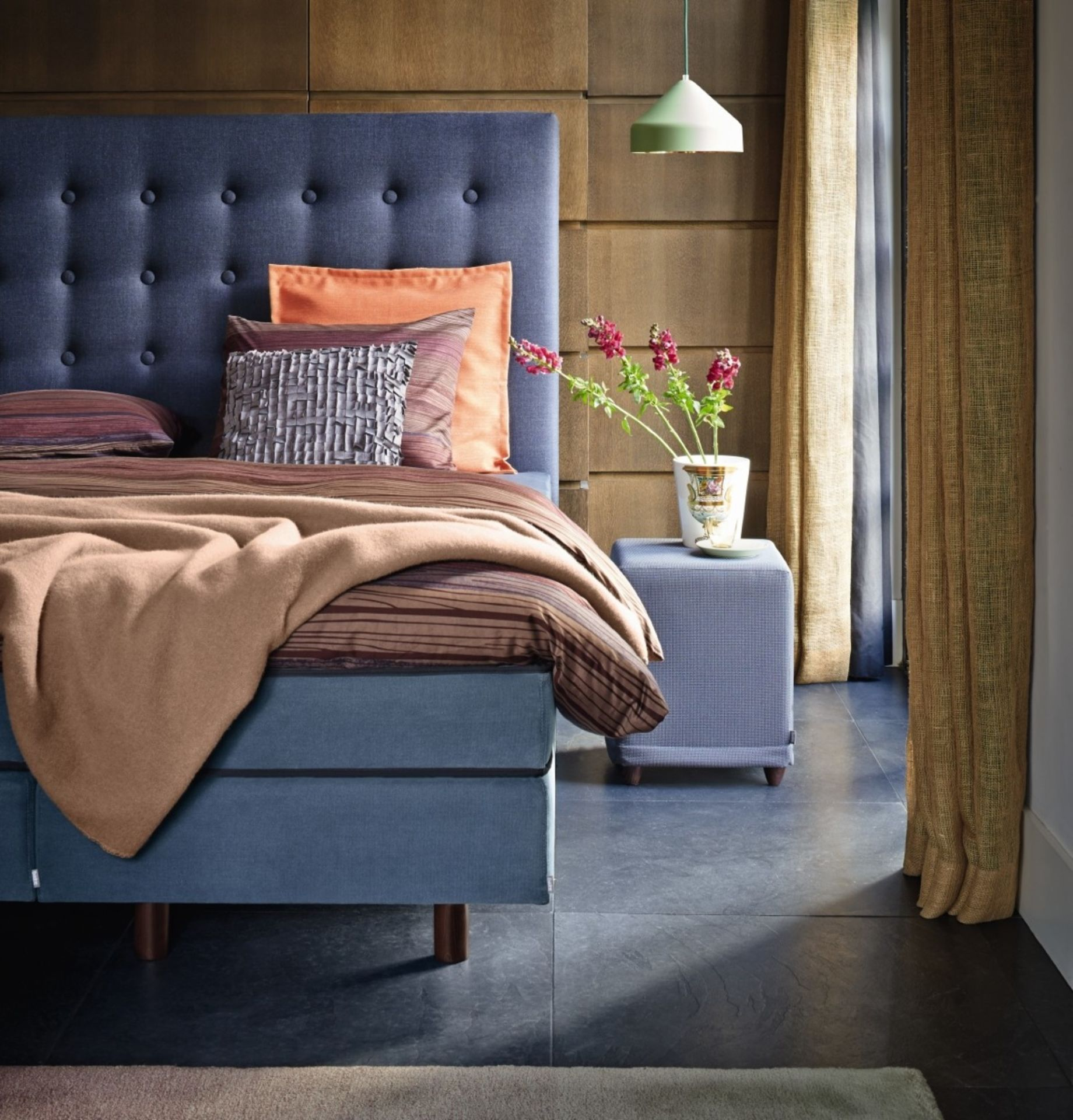 Auping Boxspring Milano blauw
